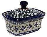 Polish Pottery Butter Tub From Zaklady Ceramiczne Boleslawiec 1188-du60 Unikat Pattern
