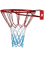 kimet Hang Anillo Canasta De Baloncesto De Baloncesto con Anillo y Red de Calidad y Seguridad. Dimensiones: 45cm de diámetro y 37cm (a Elegir)
