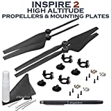 eDigitalUSA (2 Pairs) Part 11 High Altitude (2500-5000m) Quick Release Propellers w/ High Altitude Propeller Mounting Plates for DJI Inspire 2 Quadcopter + Stylus Pen and more....