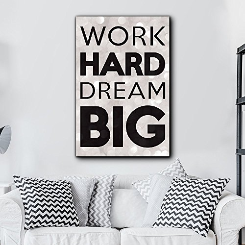 wall26 Bold Inspirational Quote Work Hard, Dream Big