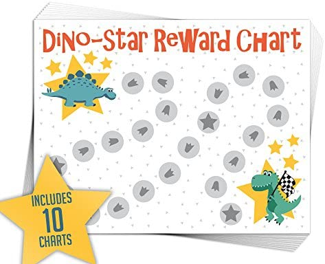 Pack of 10 Charts with 252 Star Stickers Elegant Signs Toddler Reward Chart for One or Multiple Kids with Stickers for Good Behavior or Chore 8.5 x 11