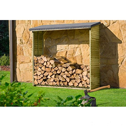 Kaminholzregal, Brennholzregal Aktion Holzlager von Gartenpirat®