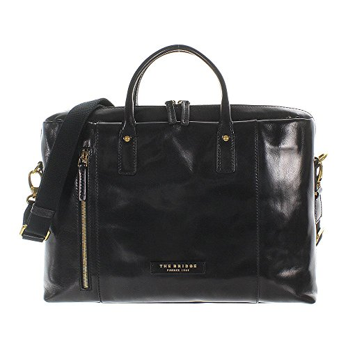 The Bridge Passpartout Donna Bolso de mano piel 40 cm compartimento Laptop nero-goldfarben