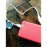 WD My Passport 500GB Portable External Hard Drive Storage USB 3.0 Pink (WDBKXH5000APK-NETG)