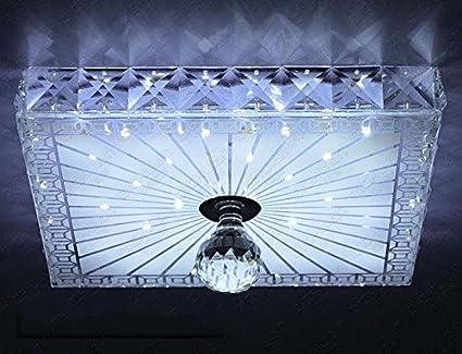 Plafoniera Cristallo Led : Meiling plafoniera crystal light semplice in cristallo