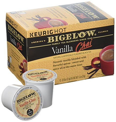 Bigelow Vanilla Chai Tea Keurig K-Cups, Box of 12 Cups (Pack of 6), Single Serve Portion Premium Tea in Pods, Compatible with Keurig and other K Cup Coffee and Tea Brewers