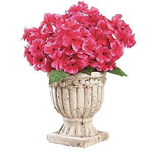 Collections Etc Impatiens Artificial Maintenance-Free Flower Bush - Set of 3 17