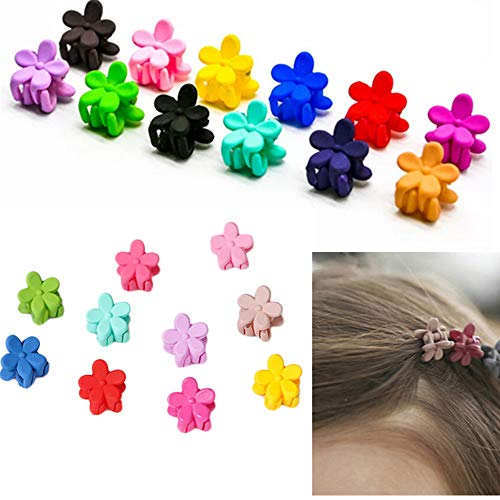 (30 PCS mini hair claw clips for girls,Cute Flower Hair Pin For Little Girls Kids Accessories For Children)