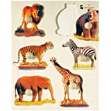 Wooden Wild Animals Knob Puzzle for Ages 2 yrs. and Up