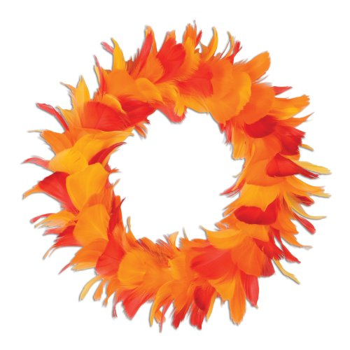 Beistle 1-Pack Decorative Feather Wreath, 8-Inch