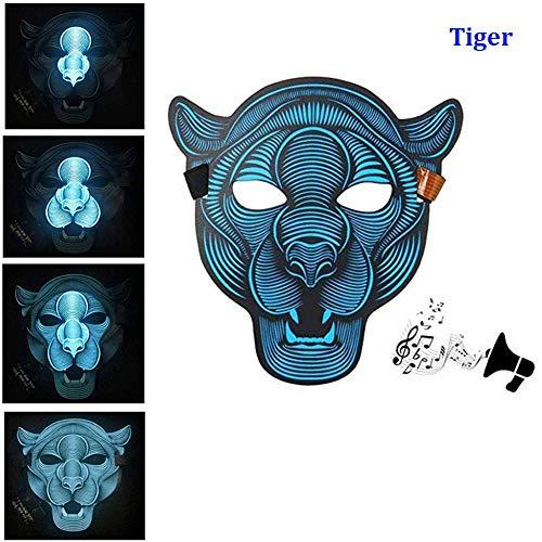 XoYo Sound Reactive LED Mask, Halloween Mask LED,