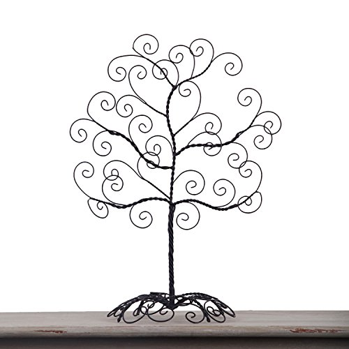Graduation Money Tree (Adeco HD0017 Twisted Iron Tree Picture/Photo/Ornament/Card Holder, Table Desk Top, Self Standing Scroll Design, Black with Antique)
