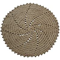 Spura Home Tara Collection 3' Round Tan 100% Jute Crochet Rug