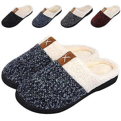 2fdd965d6c6 Women s Memory Foam Slippers Comfort House Slippers Plush Lining Anti-Skid House  Shoes for Indoor