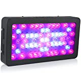 Ledgle D60x6W Hydroponics Full Spectrum 360W LED Grow Light for Indoor Greenhouse Plant Growing, One Switch for Leaf, Another for Flowering