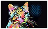 Drymate Pet Placemat - Dean Russo Designs - Dog Food Mat - Cat Food Mat - Zorb-Tech Anti Flow Technology for Surface Protection (USA Made) (12