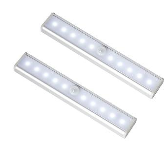 InnoBeta Sensor Movimiento Luz, Barra LED para Armario Baño, 10 Luces LED de Noche con Banda ...