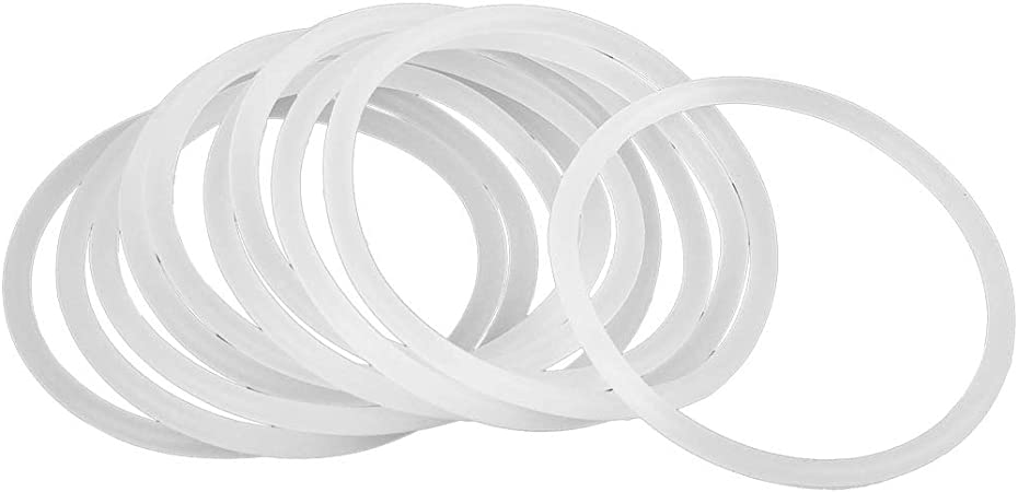 X AUTOHAUX 10pcs White Silicone Rubber O-Ring VMQ Seal Gasket Washer for Car 55mm x 3.1mm