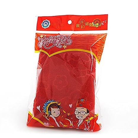 ZHFC Boda toalla caja volver rojo toalla de la boda toalla ...
