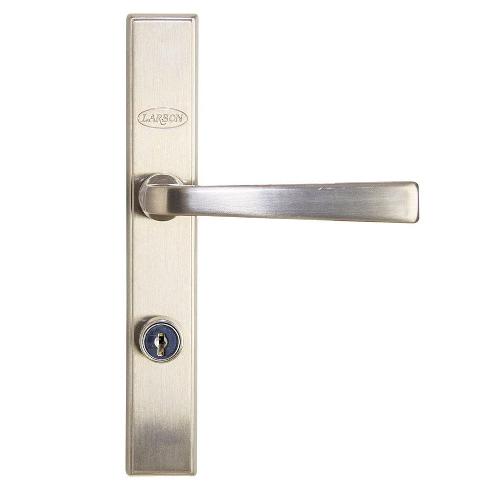 Larson Quickfit Brushed Nickel Handleset For Storm Doors