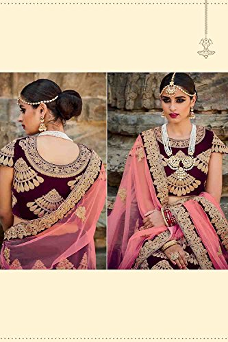 PCC Womens Silk Fabric Purple Pretty A Line Lehenga Style 79607
