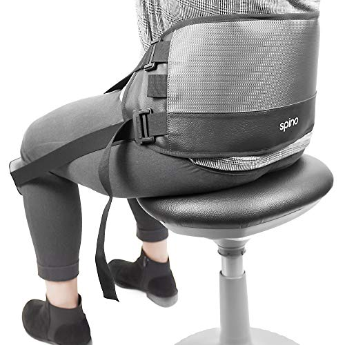 Notion Innovations Spino Deluxe Back Support Posture Correction and Improvement System with Office Chair Attachment