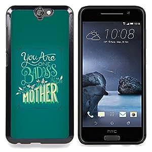 - Badass Mother Day Yellow Green/ Duro Snap en el tel????fono celular de la cubierta - Cao - For HTC ONE A9