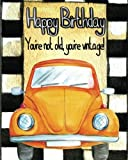 img - for Happy Birthday: Sketching, Drawing, Writing, Journal, Notebook, Light Grey 5x5mm Squared, White Papers, 90 Pages, 8 x 10 in (Volume 5) book / textbook / text book