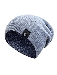 OMINA Winter Warm Hat, Outdoor Riding Climbing Sports Knit Thick Wool Windproof Head