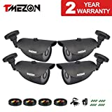 Cheap TMEZON 4 Pack HD-TVI Camera Kits HD 1080P 2.0MP Outdoor Bullet Camera 3.6mm Indoor/Outdoor 42IR Lens Only Work with HD-TVI DVR