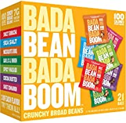 Enlightened Bada Bean Bada Boom Plant-based Protein, Gluten Free, Vegan, Non-GMO, Soy Free, Roasted Broad Fava Bean Snacks, T