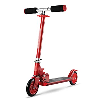 Patinete Scooter plegable para niños de color rojo con ...