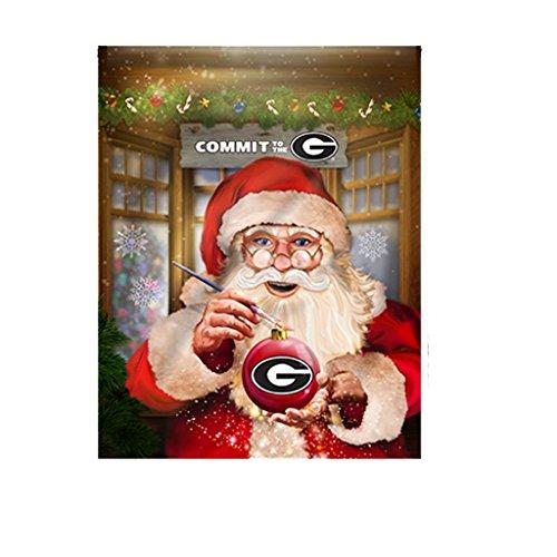Jay Mac Sports University Georgia Bulldogs Santa Ornament Ga