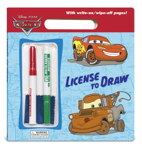 License to Draw (Disney/Pixar Cars) (Write-On/Wipe-Off Activity Book) PDF