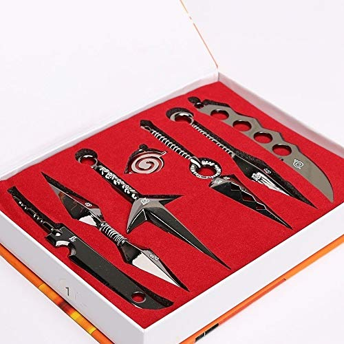 Fashion Naruto Cosplay Model Eight Sets Black and Pendant 8pcs/Set