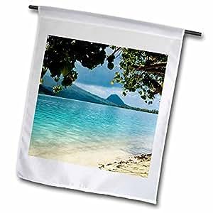 Danita Delimont - French Polynesia - French Polynesia, Huahine, beach - OC13 JSE0026 - Jan and Stoney Edwards - 12 x 18 inch Garden Flag (fl_85096_1)
