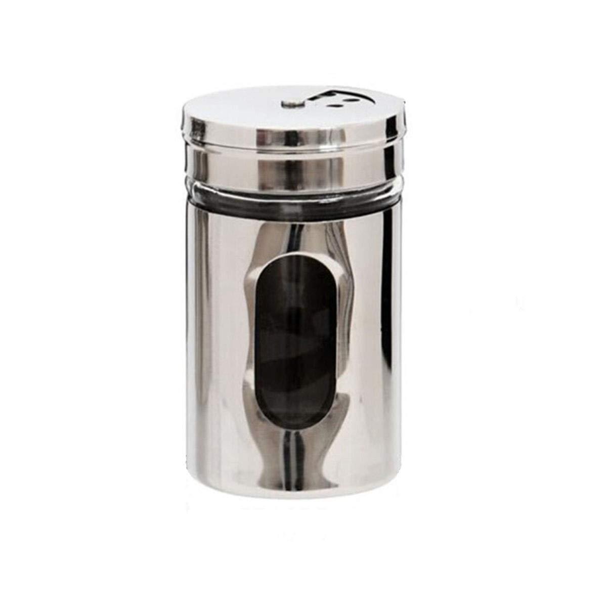 MINGRUIGONGMAO Spice Shaker, Stainless Steel Lided Seasoning Jar, Perforated Seasoning Box, Kitchen Seasoning Jar, Seasoning Seasoning Bottle (one Pack) Plush toys (Color : Silver) by MINGRUIGONGMAO