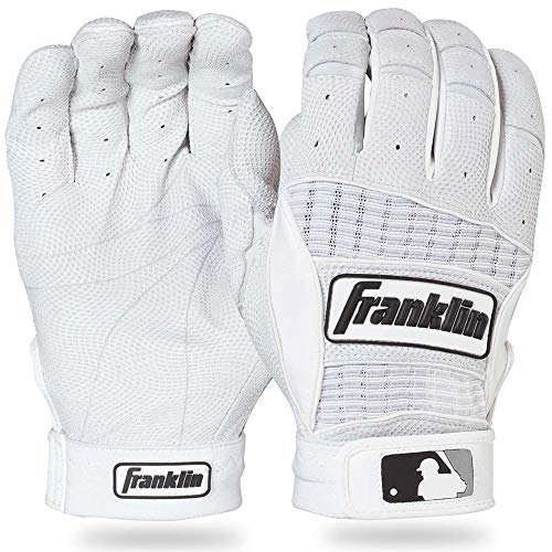 Franklin Sports MLB Adult Neo Classic II Series Batting Glove (White, Small)