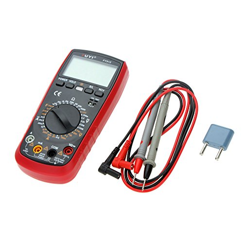 - DMM Digital Multimeter Capacitance Tester w/ LCD Backlight FUYI FY912