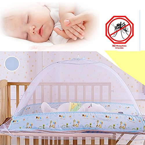 Baby Canopy Cover Pop UP Mosquito Net; Foldable AND Portable Insect Mesh Cover For Newborns Bed Summer and Camping Essential (Where Can I Buy Cat Eye Contacts)