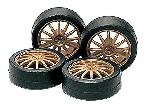 GP.358 ローハイトタイヤ&ホイールセット (フィン) 「ミニ四駆グレードアップパーツシリーズ」 [15358]
