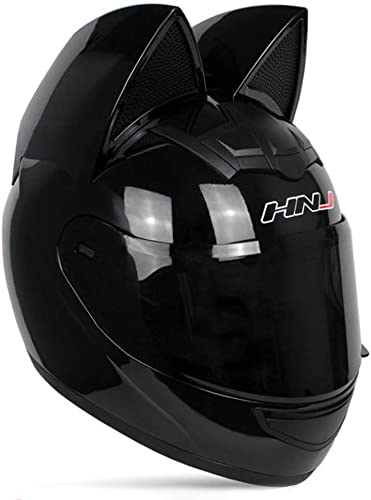Adult Personalized Cat Ear Motorcycle Helmet