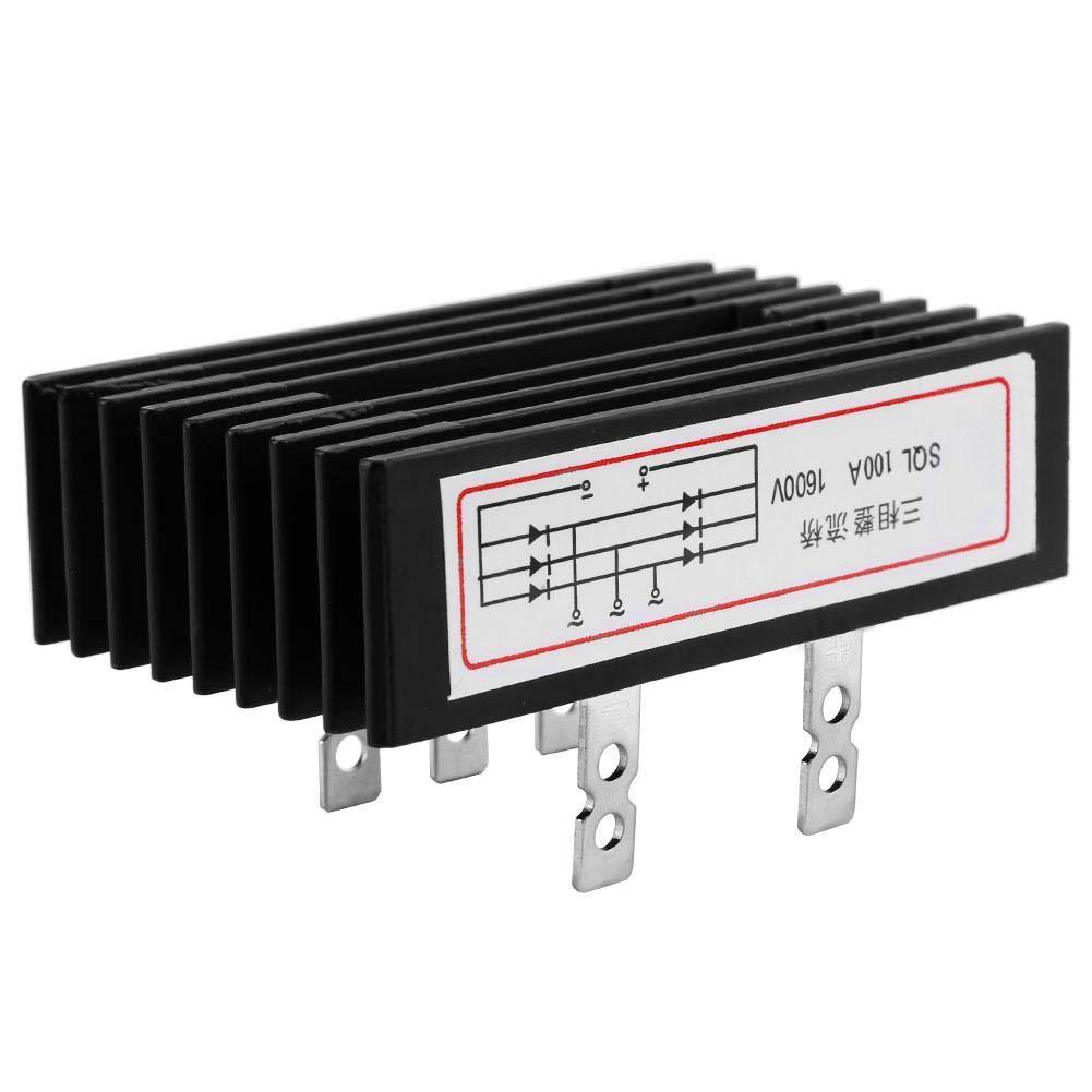 Pont redresseurs SQL100A AC /à DC Diode Triphas/é 100A 1600V Pont en Aluminium Pont Redresseur Diode Adaptateur de Rechange