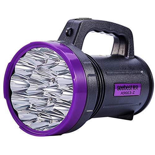 mingL Multi-Function Grab Tweezers Portable Light, Super Bright Glare Purple Outdoor Flashlight Photo Tweezers, 3 LED White Light + 15 LED A++