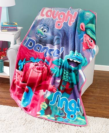 Trolls Plush Fleece Throw