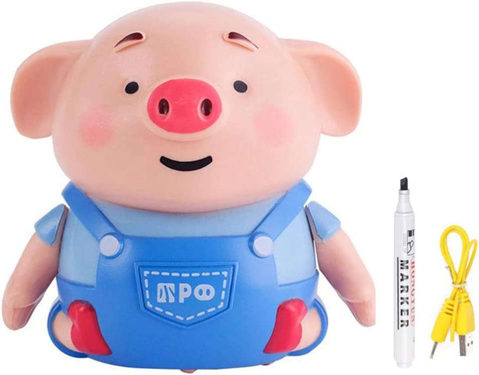 Urisgo Cars Electric Pig Kids Toy Cars Pen Juguete inductivo Carruaje Line Pen Pluma Cars inductivo Pen Kids Inductive Toy Line Novedad Juguete