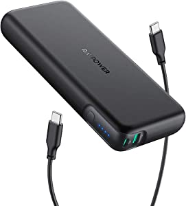 Portable Charger RAVPower 20000mAh 60W PD 3.0 USB C Power Bank 2-Port Power Delivery Battery Pack High-Capacity External Battery Compatible with MacBook Pro iPad Pro iPhone 11 Pro Max Nintendo Switch