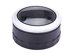 Magnifying Lens Magnifying Glass with Light LED Magnifier Touch & Zoom Desktop Magnifier Handheld Domed Magnifier for Hobbies, Reading, Crafts, Tools for Visual Impairment
