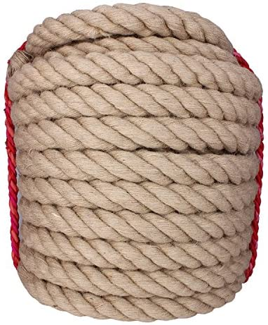 Twistedマニラロープジュートロープ100フィートナチュラルジュートTwine麻ロープ1–1/ 2インチ直径Twine麻ロープ