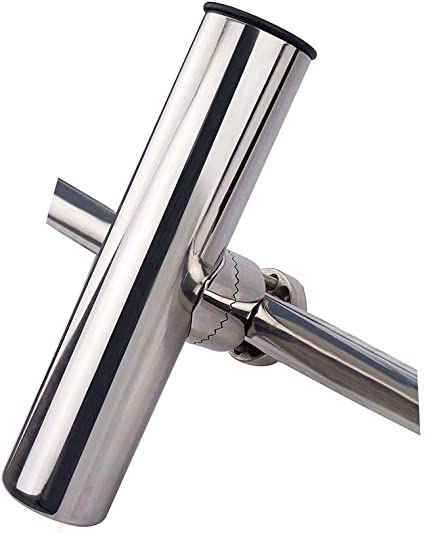 Stainless Clamp on Fishing Rod Holder for Rails 7//8/'/' to 1/'/'-Lower Clamp US SHIP